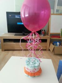 Balloon centerpiece babyshower