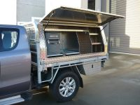 Two door lift off canopy on Mazda BT-50 ute with custom ...