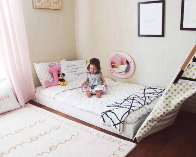 Johanna S Updated Montessori Floor Bed Toddler Room