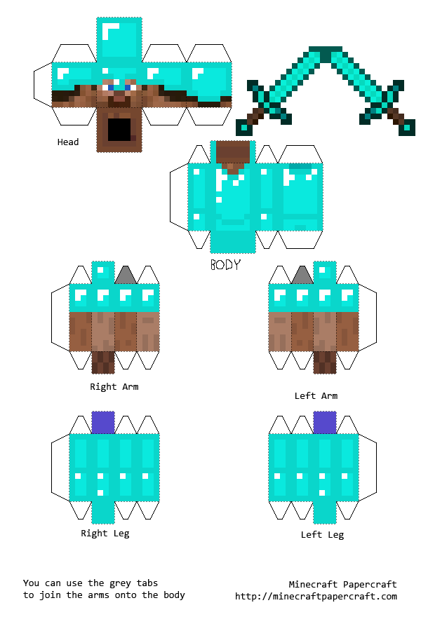 Minecraft Print Outs Papercraft