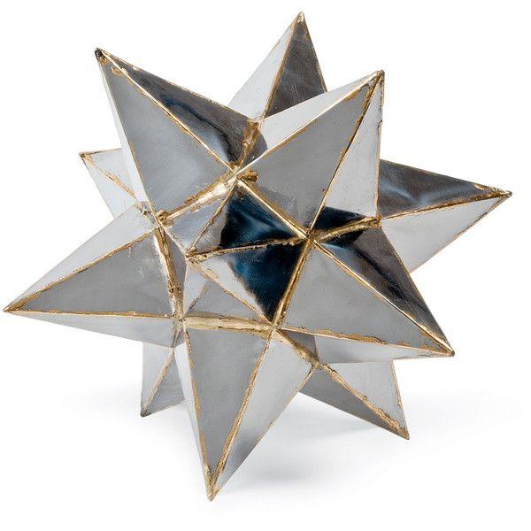 Frattini Industrial Loft Metal Moroccan Star Sculpture 12 Inch