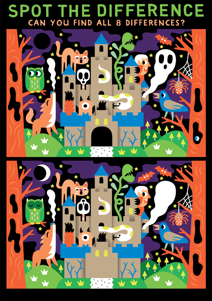 Find Difference Puzzles Hallowee
