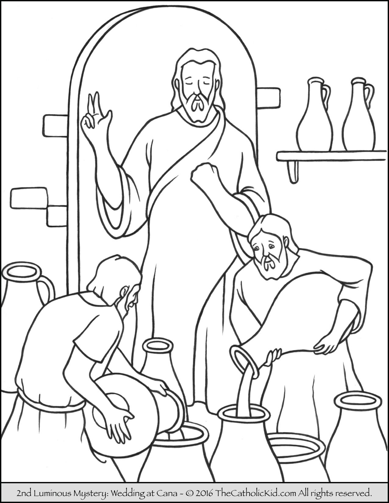 The 2nd Luminous Mystery Coloring Page Wedding At Cana