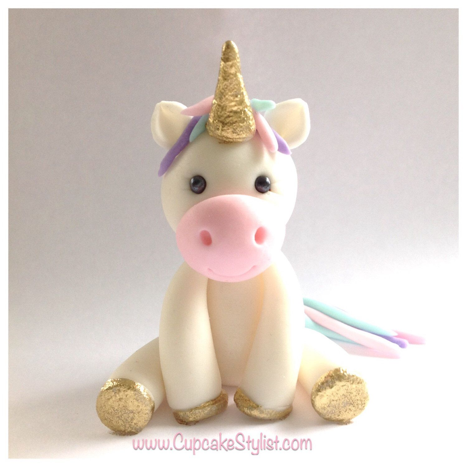 2 Tall Unicorn Cupcake Or Cake Topper By Cupcake Stylist