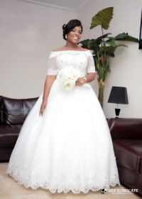 2016 Vintage Beaded White Lace Plus Size Ball Gown African ...