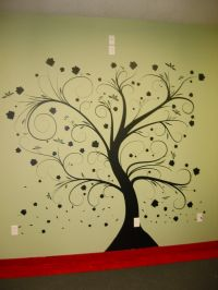 wall paint stencils tree with beautiful natural dark tree ...