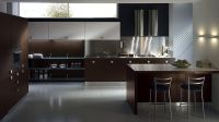 Sleek Modern Kitchen Looks Like A Posh Contemporary Office ...