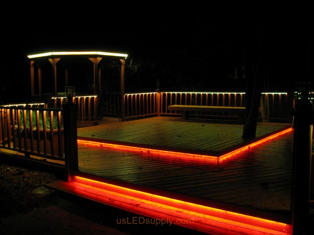 Deck Lighting Ideas LED Deck Lighting With RGB Flexible LED
