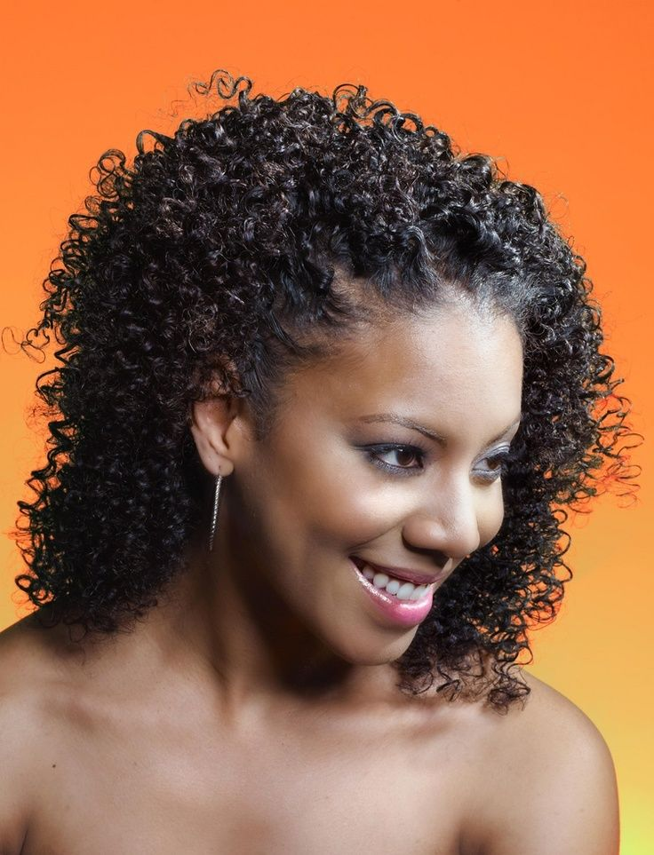 Kinky Curly Hairstyles For Afro American Girls Kinky Curly