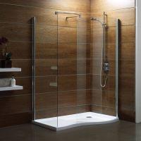 wood showers | Wooden-Interior-Walk in Shower Design Ideas ...
