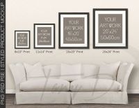 Living Room 9 Sofa Wall Interior 8x10 11x14 by