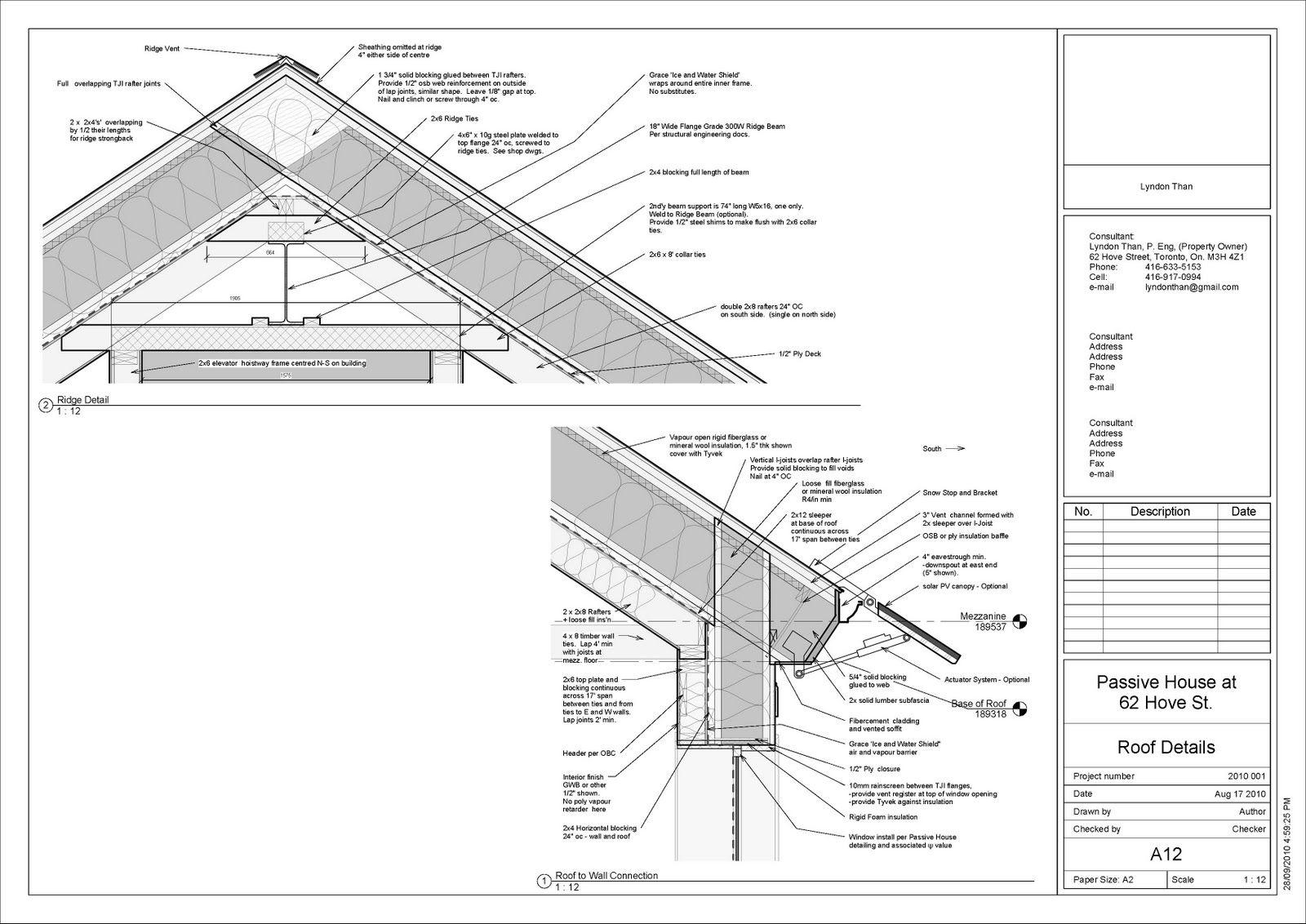 Passive House Roof Details