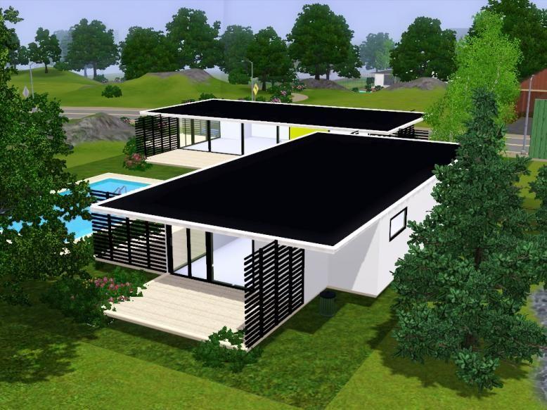 Fidji Sims 3 Modern Houses House Plans Pinterest Fidji