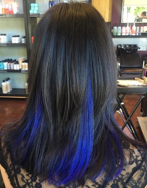 Pics of black hair with blue highlights the best black hair 2017 black blue purple hair hairstyle fo women man long black hair with blue highlights pmusecretfo Images