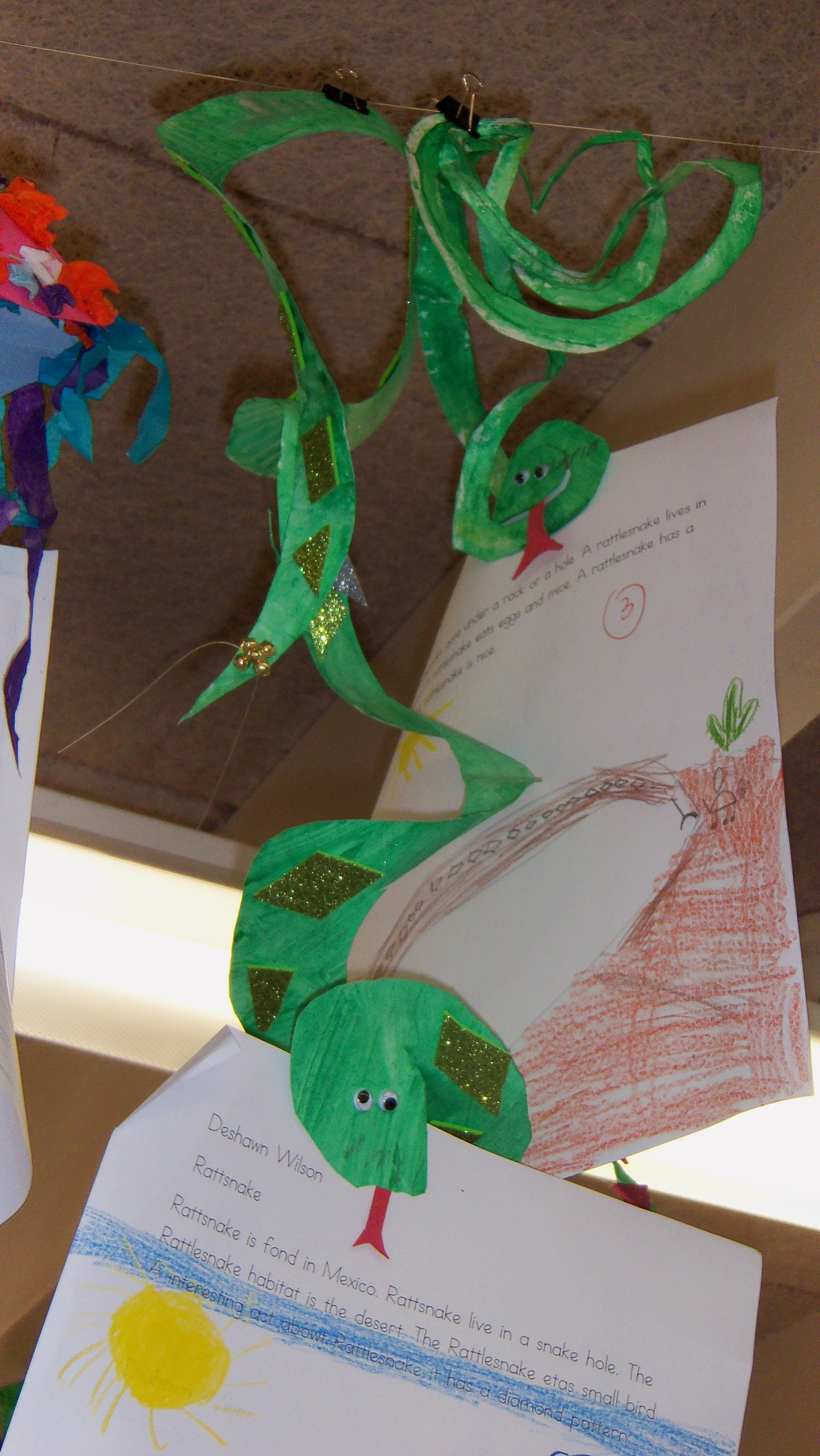 Rattlesnake Craft Have Kids Cut Out And Glue On A Paper