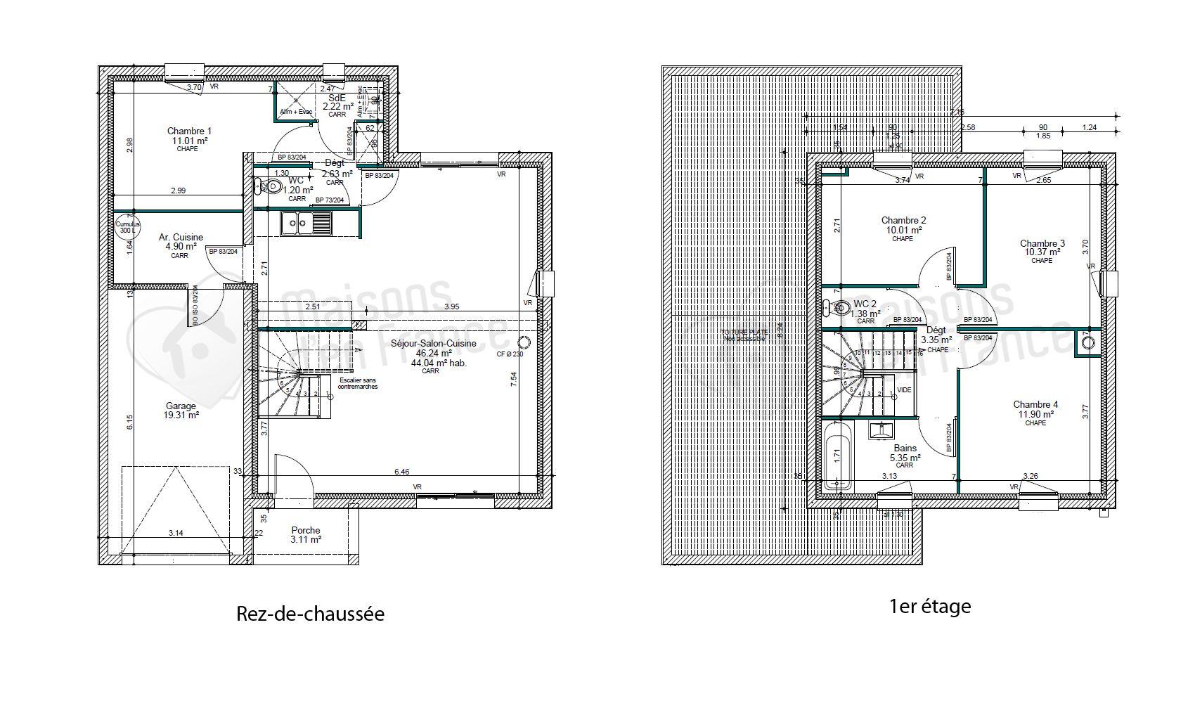 Modele de maison moderne toit plat for Modele maison toit plat