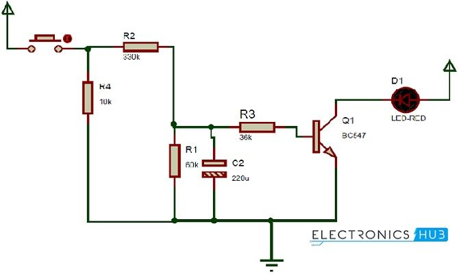 How UP DOWN Fading LED Lights Circuit Works? Circuit Diagram