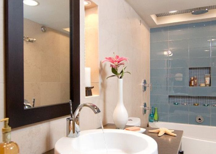Spaces shower with pebble tiles design pictures remodel decor and ideas page also