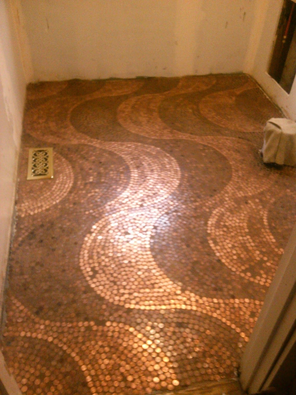 Our Irish Manor Our Penny Floor  For the Home