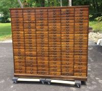 Antique 1920's Cincinnati OH History Oak Filing Cabinet ...