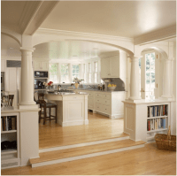 Arch shape for Kitchen and Living room Division. | New ...