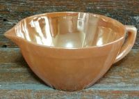 Vintage Fire King Peach Lusterware Batter Bowl With Handle ...