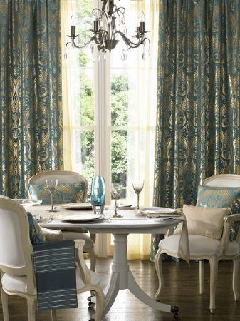 Ashley Wilde Shimila Fabric Collection Teal And Gold Classical