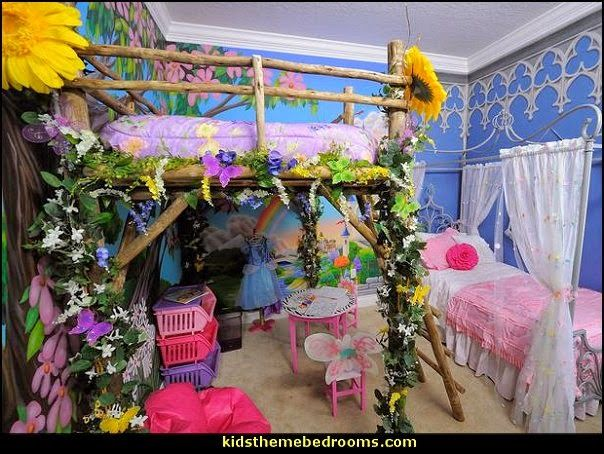 Canopy Fairy Forest For Girls Bedroom By Authentiquehome On Etsy