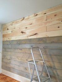 Staining a plank wall with Milk Paint | Farmhouse Decor ...