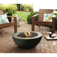 Threshold Round Propane Fire pit - Black - $100 Target ...