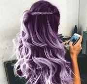 pastel hair purple ombre cotton