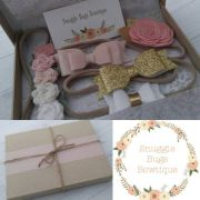 headband box set vintage pink