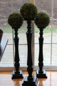 """30"""" Very Tall BLACK CANDLESTICK Gloss Candle Stick Wooden ..."""