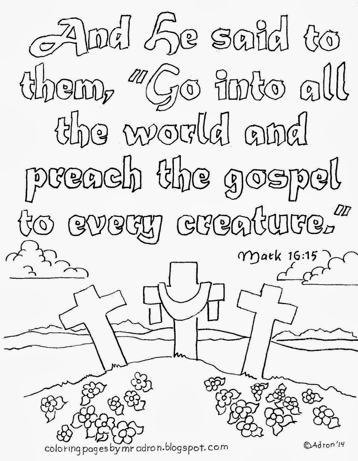 Go Preach The Gospel Coloring Page See More At My Blog