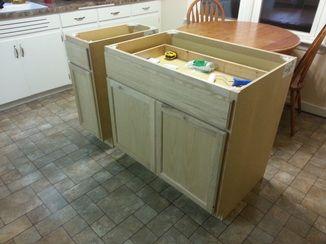Diy Kitchen Island From Base Cabinets Novocom Top