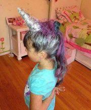 crazy hair day ideas - unicorn