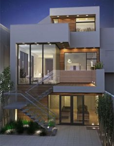 Rear view of  stylish contempory multi faceted house design by  would love to see if this can be achieved with period properties in the uk also studio noe valley home plans pinterest rh