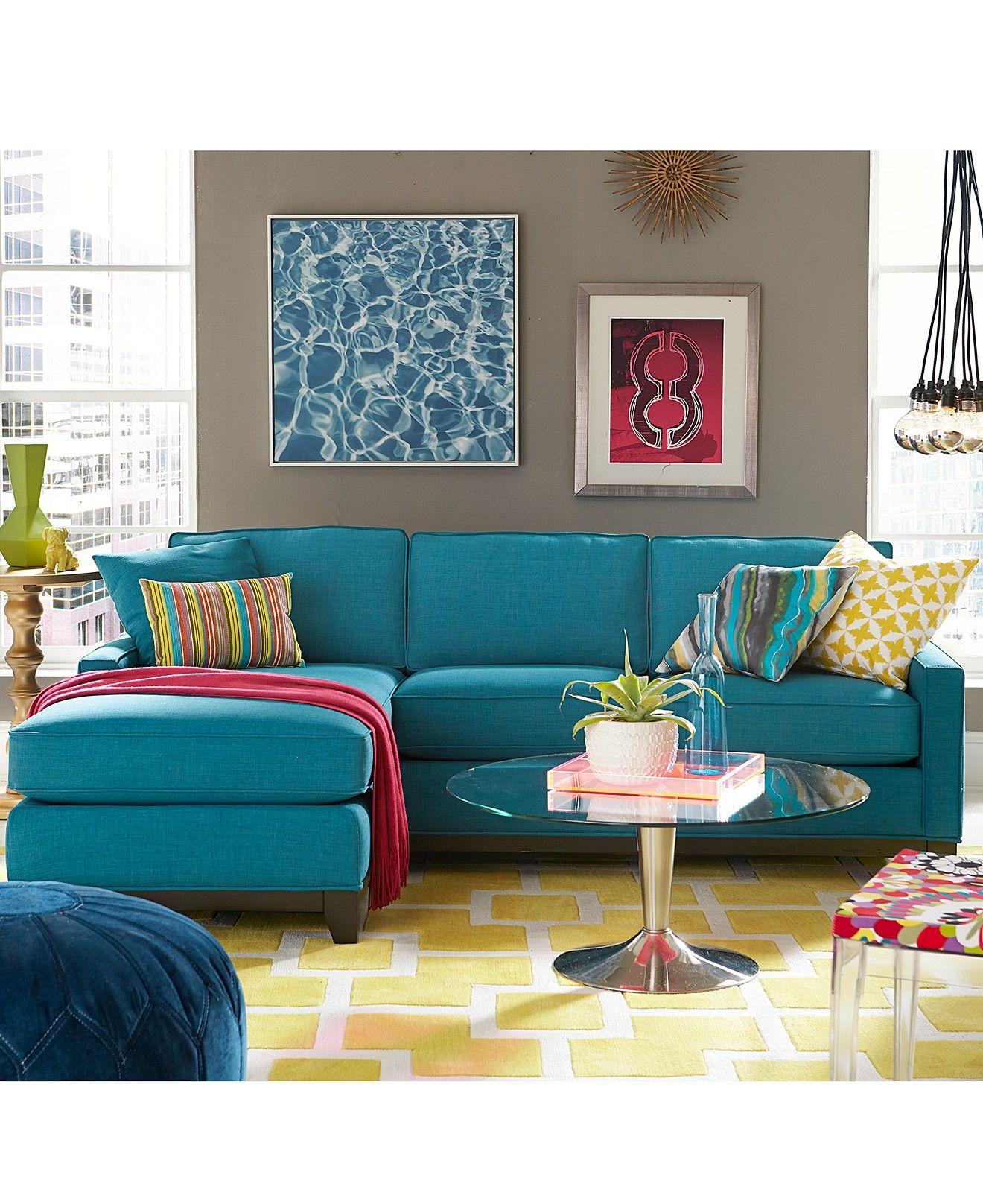 blue colour sofa set simmons harbortown reviews keegan fabric sectional living room furniture
