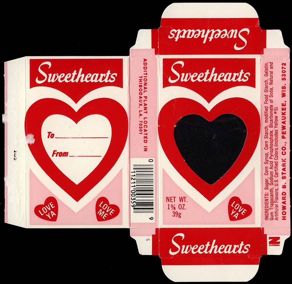 Sweethearts Conversation Hearts Can S Were Originally Made By Wisconsin S Stark Candy Company