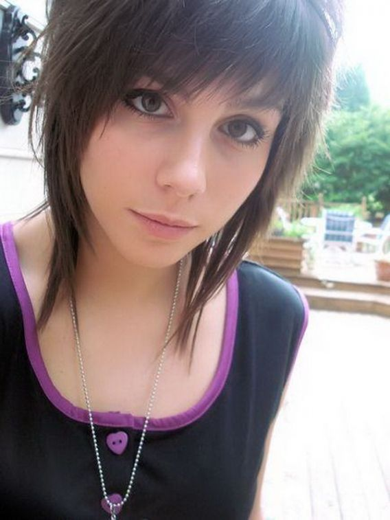 Short Emo Hair Cut Style Coiffure Pinterest Cheveux Courts