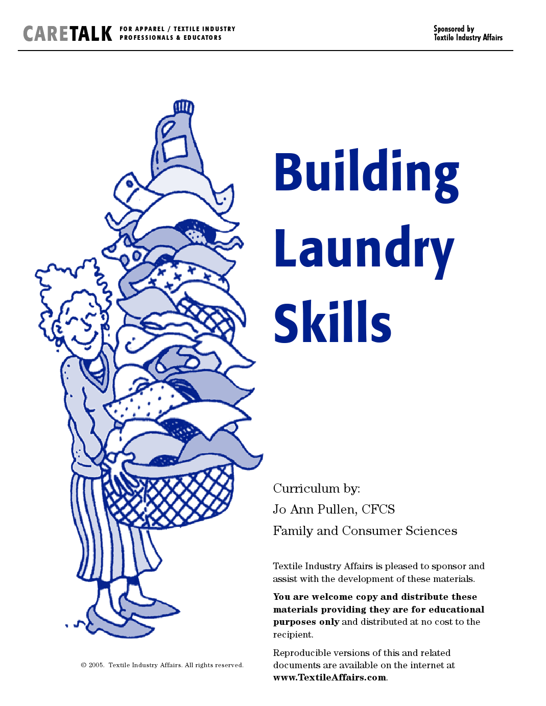 Laundry Curriculum With Worksheets And Printable Care