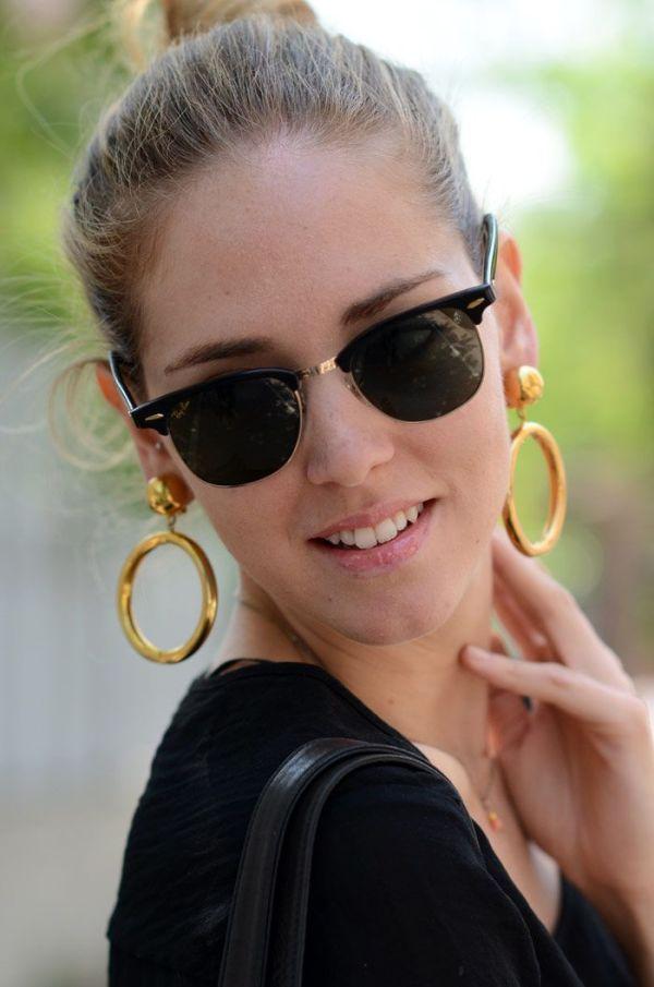 Chiara Ferragni of TBS wearing Rayban Clubmaster