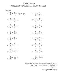 Number Names Worksheets  Subtracting Fractions With ...