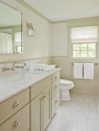 , Exciting Modern Bathroom Design With Cream Beadboard In ...