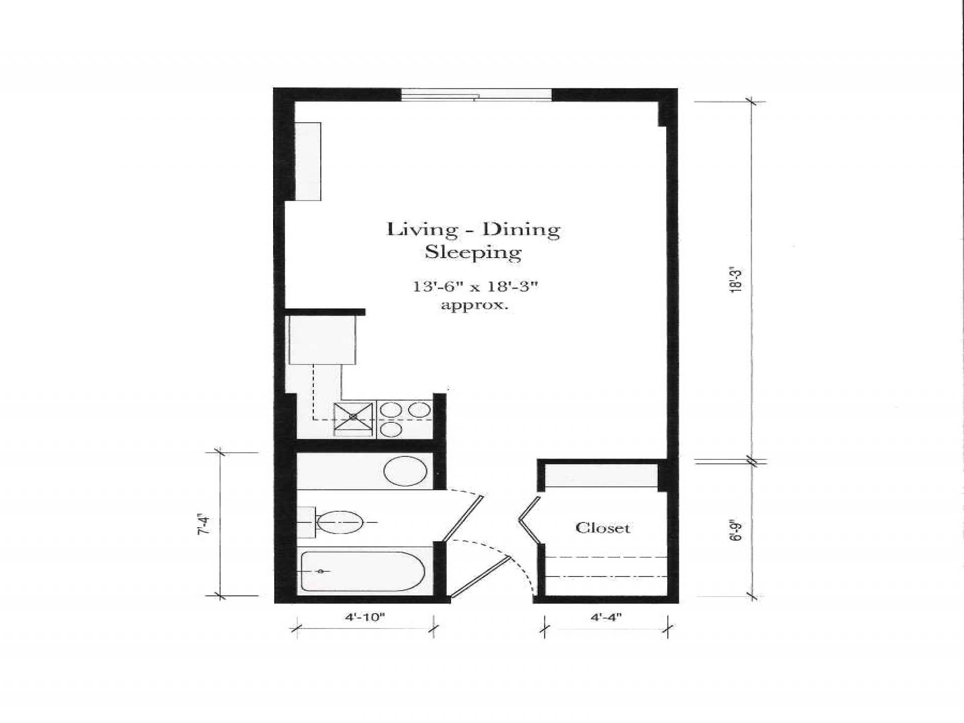 Apartment Studio Floor Plan Simple Floor Design Studio