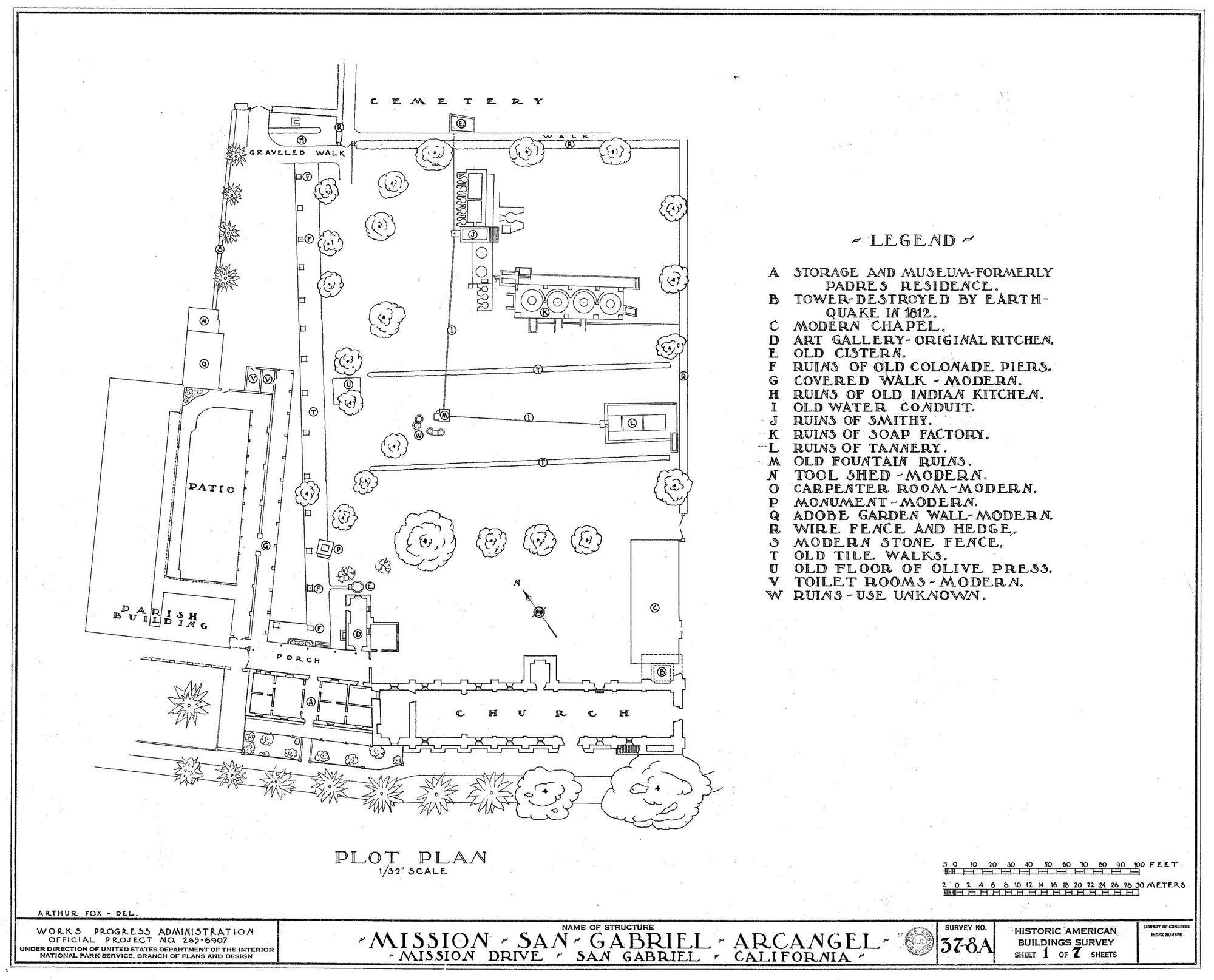 04 Plot Plan Of San Gabriel Web 0 2 000 1 615 Pixels