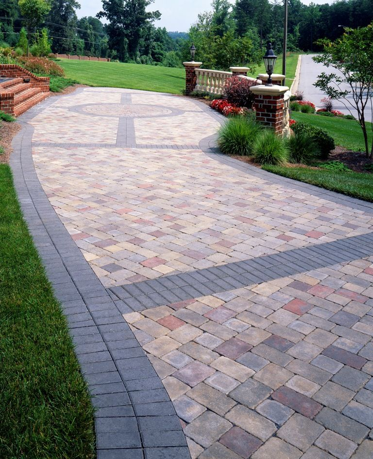 Paver Banding Design Ideas For Pavers Landscape Pinterest