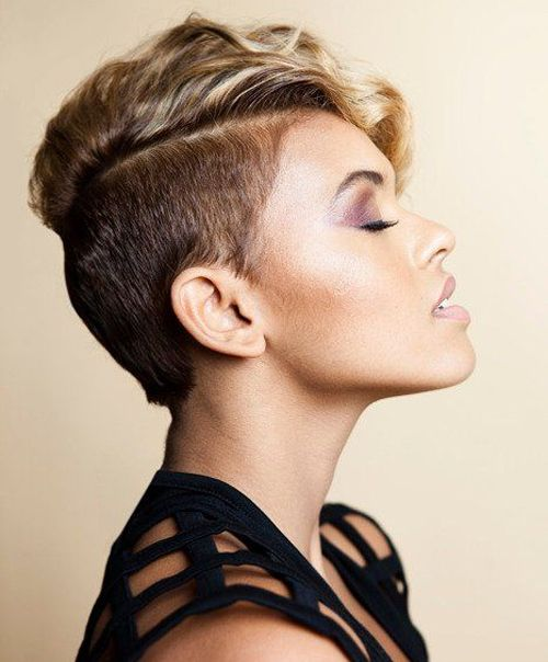 Shaved Sides Pixie Haircuts For Women Hairstyles Shaved Pixie
