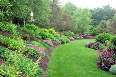 Backyard Garden Designs On Landscaping Ideas For Hills In Backyard