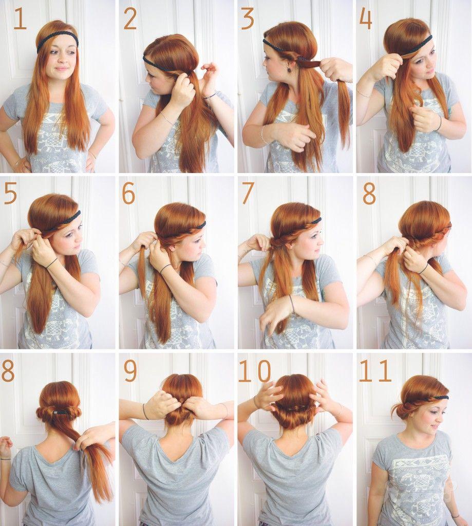 Schnell Und Schöne Frisur Frisuren Pinterest Schöne Frisuren